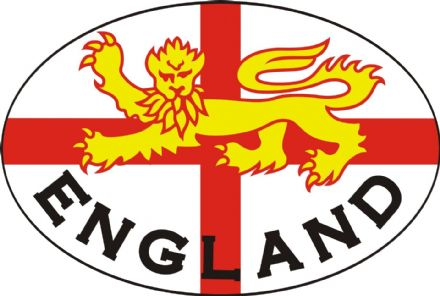 "England ""Lion"" XL Size Lorry Sticker"
